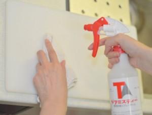 ジアミスティー®によるまな板除菌