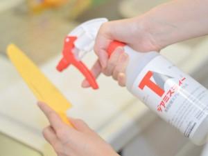 ジアミスティー®で包丁を除菌