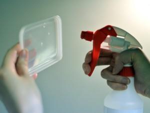 ジアミスティー®によるタッパーの除菌